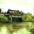 Japanese Garden by Genevieve  Cseh