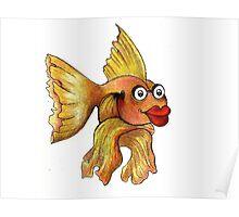 Goldfish Illustration Poster