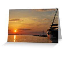 mellow harbour sunset Greeting Card