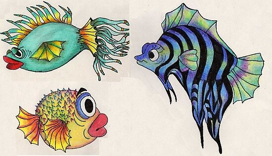 Cartoon Fish Illustration by plunder