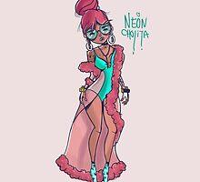 Neon Cholita by JoniWaffle