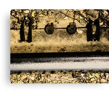 Railroad Track Abstract Canvas Print