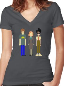 The IT Crowd Women's Fitted V-Neck T-Shirt