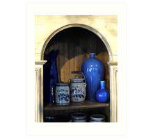 Blue Pottery Art Print