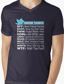 Geezer Tweets Mens V-Neck T-Shirt