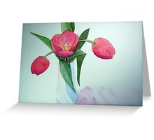 3 Tulips Watercolor  Greeting Card