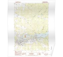 USGS Topo Map Oregon Sweet Home 281729 1984 24000 Poster