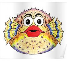 Puffer Fish Illustration Poster