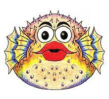 Puffer Fish Illustration Photographic Print