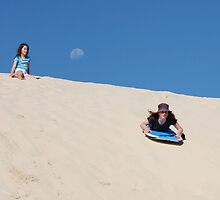 The thrill of the ride on the sand dunes of Moreton Is. by sueyo