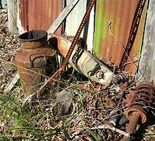 Old rusty milkcan by Lunaria