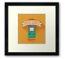Old School Video Games Framed Print