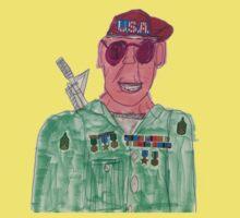 American Hero Soldier  Kids Tee