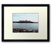 Queen Mary 2 arriving at Halifax Framed Print