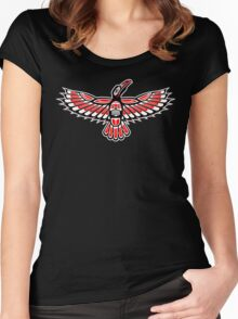 Tribal Crow Women's Fitted Scoop T-Shirt