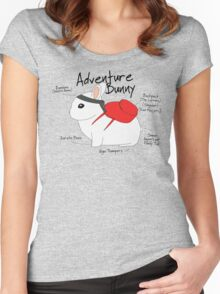 Adventure Bunny Women's Fitted Scoop T-Shirt