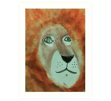 Lion,for my Africa Series, watercolor Art Print