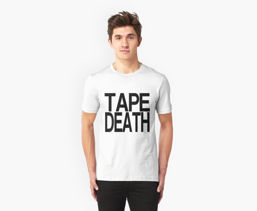 Tape Death - Text Only Minimal Print by tapedeath
