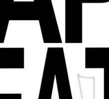 Tape Death - Text Only Minimal Print Sticker