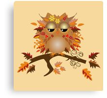 Cute Autumn Owl Canvas Print