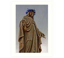 Mary Illuminated Art Print