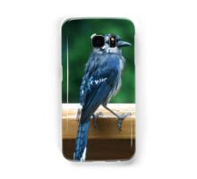 Blue Jay during a summer rain Samsung Galaxy Case/Skin