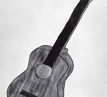 Guitar Drawing by Hannah-C