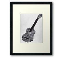Guitar Drawing Framed Print