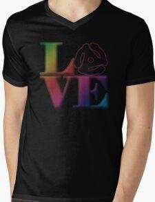 Vinyl Love 45 Mens V-Neck T-Shirt