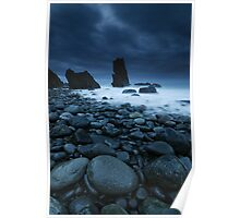 Ampere Beach Blue Dawn Poster