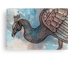Peacock Blue (for Drawing Day) Canvas Print