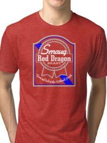 Smaug Red Dragon Tri-blend T-Shirt