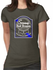 Smaug Red Dragon Womens Fitted T-Shirt