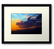 The Dragon Rises in the Night Sky Framed Print