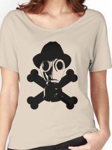 The Gas Mask W/Cross bones Women's Relaxed Fit T-Shirt