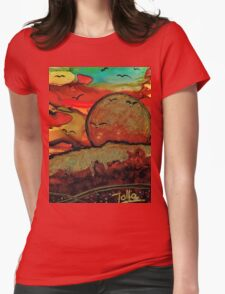 Emperor's Sun Womens Fitted T-Shirt