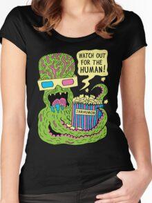 Alien Monster Movie Women's Fitted Scoop T-Shirt