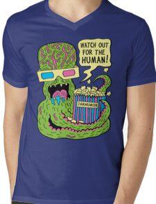 Alien Monster Movie Mens V-Neck T-Shirt