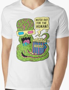 Alien Monster Movie Mens V-Neck T-Shirt