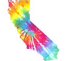 California Block Tie Dye  Photographic Print
