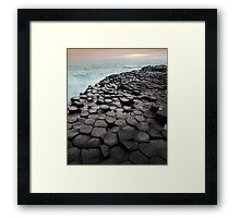 Hexagons Framed Print