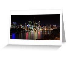 Brisbane by Night Greeting Card