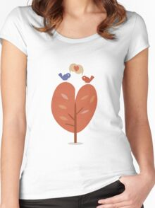 SweetyBirds - Love Birds Women's Fitted Scoop T-Shirt