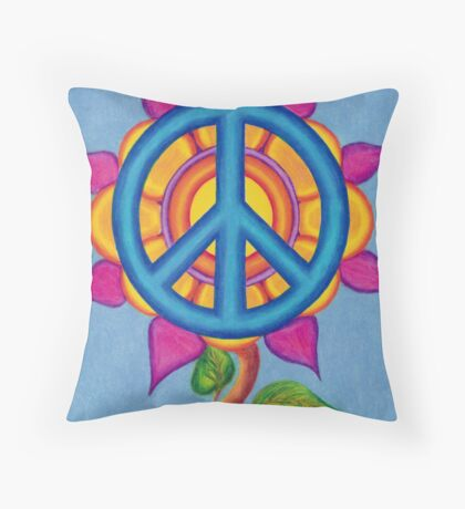 Peace - Drawing Day 2011 Throw Pillow