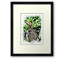'Elf with Cat' Framed Print
