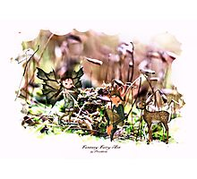 'Elves with Deer' Photographic Print