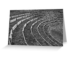 Wooden Curves Greeting Card