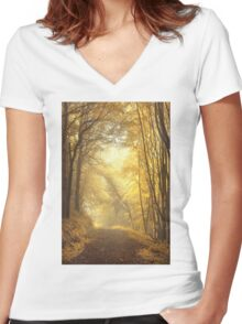 Beautiful Fall Women's Fitted V-Neck T-Shirt