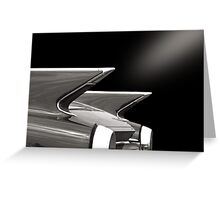 Rear (black&white) Greeting Card