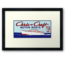 CHRIS CRAFT Framed Print